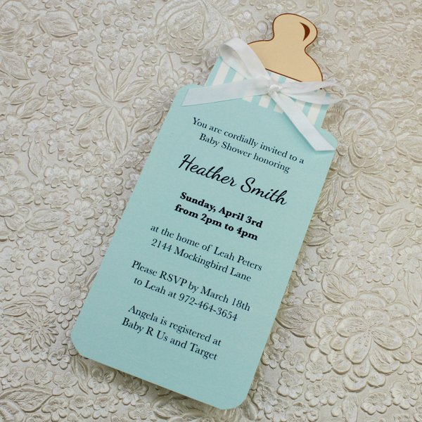 Baby Boy Invitation Template Best Of Baby Bottle Boy Shower Invitation Template