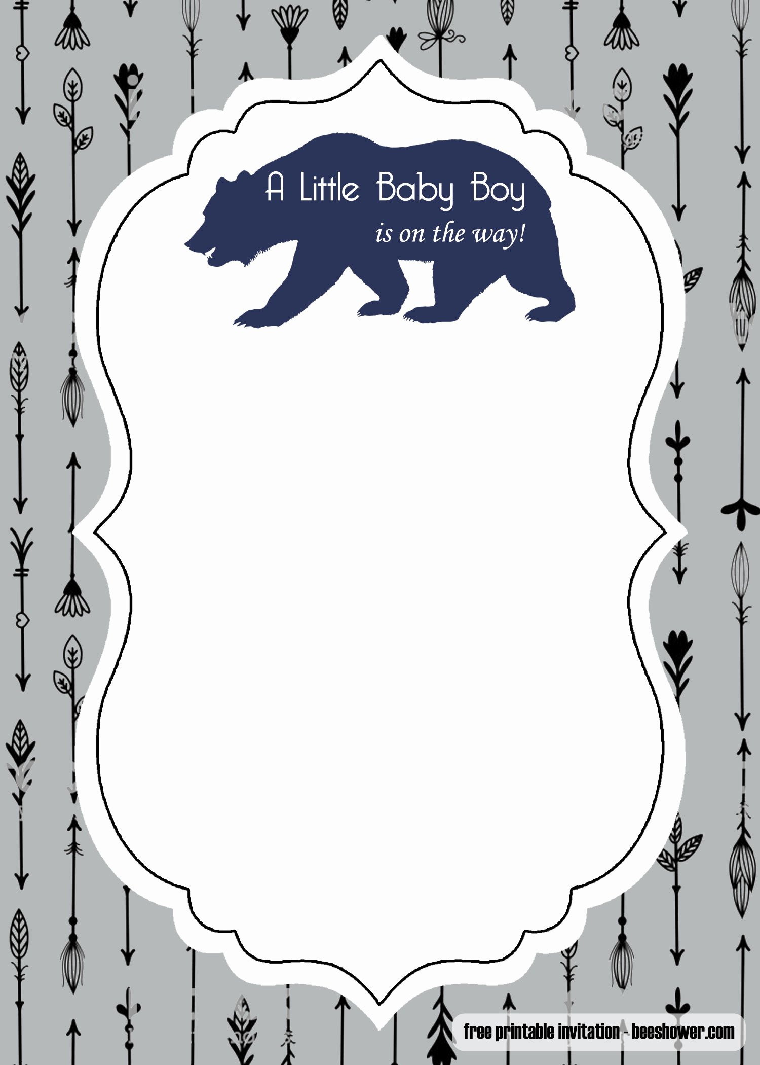 Baby Boy Invitation Template Fresh Free Adventure Awaits Baby Shower Invitation Template