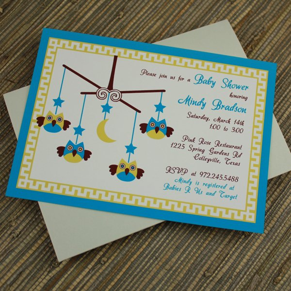 Baby Boy Invitation Template Lovely Baby Shower Invitation Template Baby Boy Owl Mobile