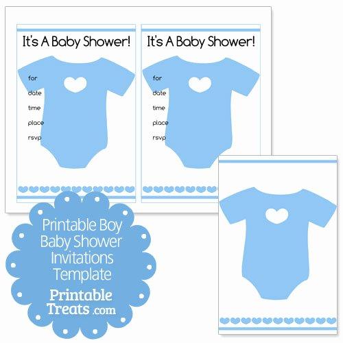 Baby Boy Invitation Template Unique Printable Baby Boy Shower Invitations Template — Printable