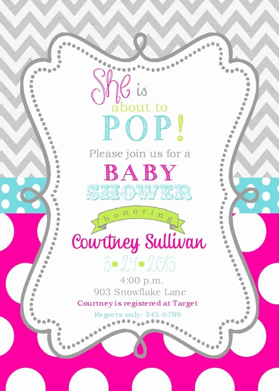 Baby Girl Invitation Template Beautiful Girls Baby Shower Invitations Digital or Printable File Ready