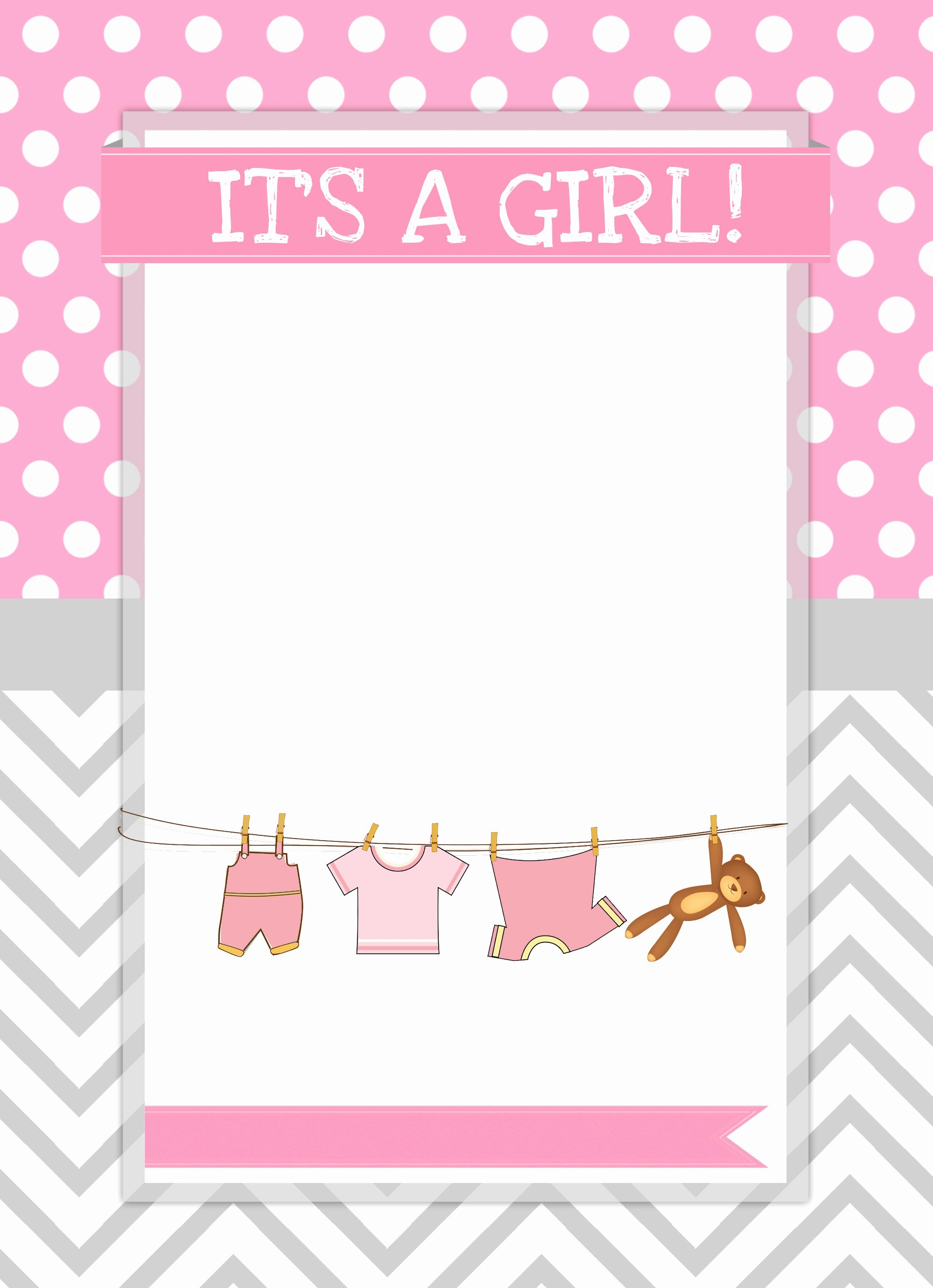 Baby Girl Invitation Template Inspirational Baby Girl Shower Free Printables How to Nest for Less™