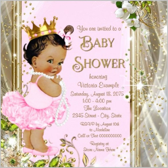 Baby Girl Invitation Template Luxury Baby Shower Invitation Template 29 Free Psd Vector Eps