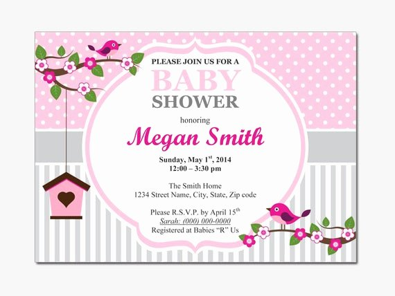 Baby Shower Invitation Free Template Awesome Birds Baby Shower Invitation Diy Printable by Designtemplates