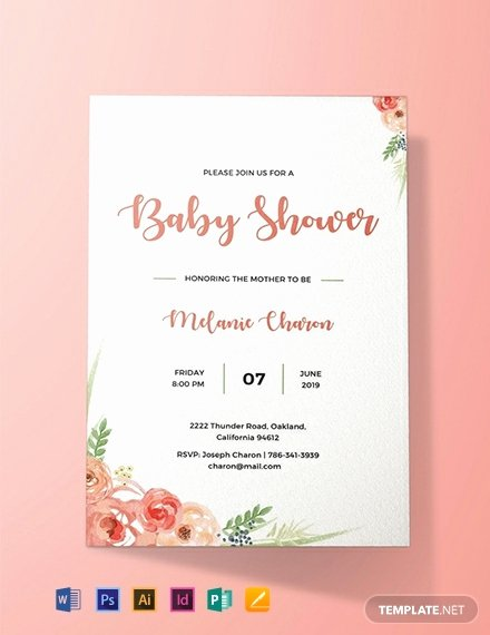Baby Shower Invitation Free Template Best Of Free Baby Shower Invitation Template Word