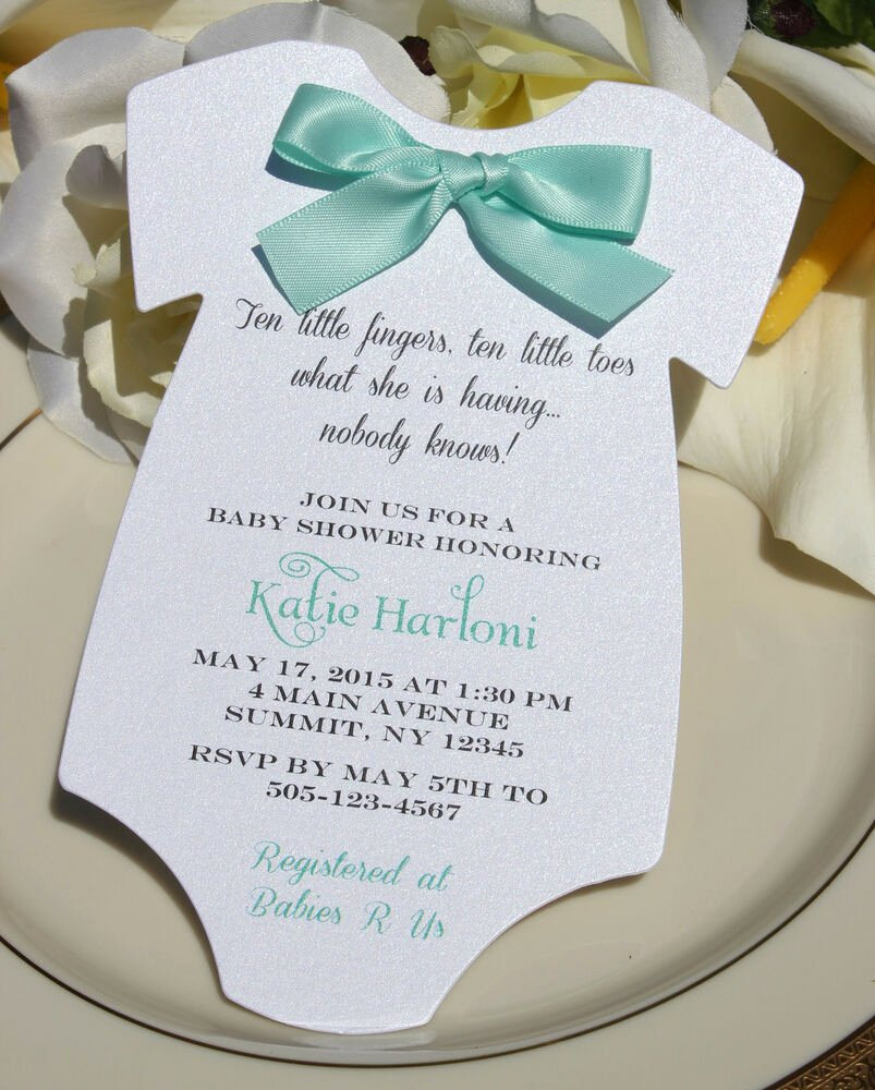 Baby Shower Invitation Free Template Lovely Baby Shower Invitation for Boy or Girlwith Aqua Satin Bow