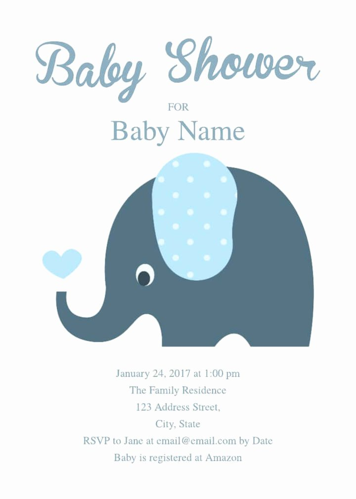 Baby Shower Invitation Free Template Luxury 2 Free Baby Shower Invitation Templates & Examples
