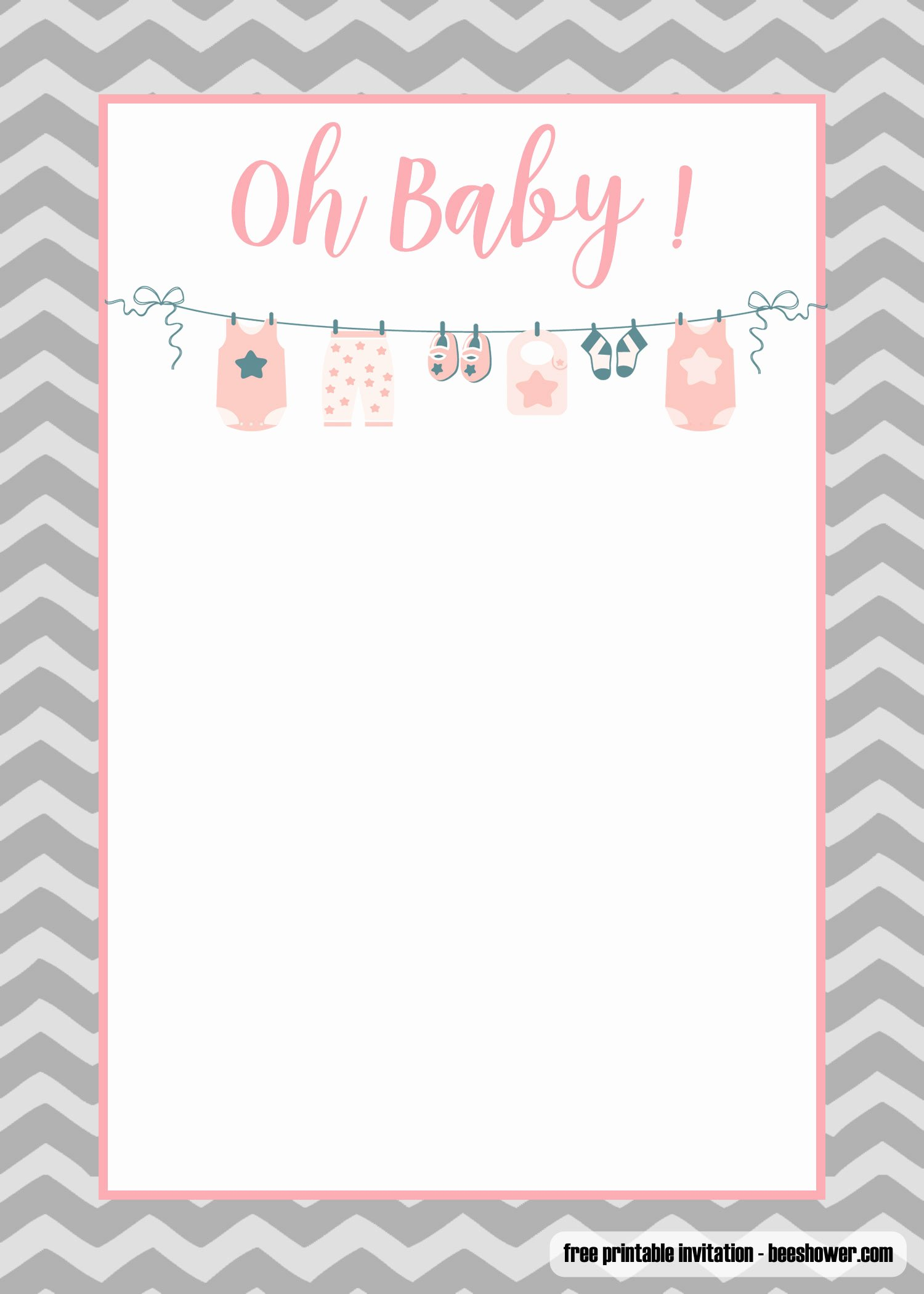 Baby Shower Invitation Free Template Luxury Free Printable Esie Baby Shower Invitations Templates