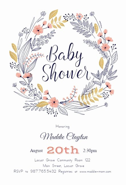 Baby Shower Invitation Free Template New Baby Shower Invitation Templates Free