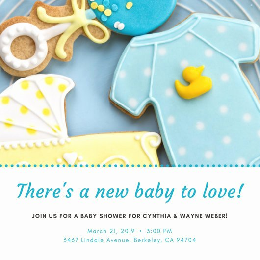 Baby Shower Invitation Template Free Awesome Customize 832 Baby Shower Invitation Templates Online Canva