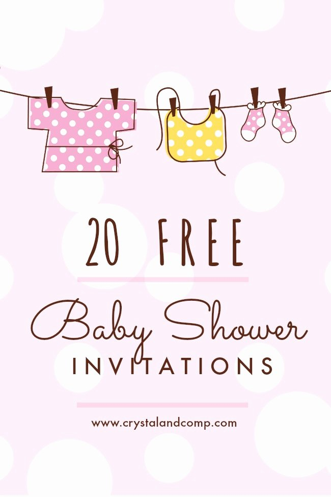 Baby Shower Invitation Template Free Beautiful Printable Baby Shower Invitations