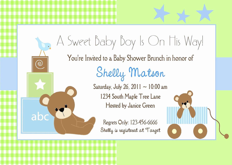 Baby Shower Invitation Template Free Fresh Baby Shower Invitation Baby Shower Invitation Templates