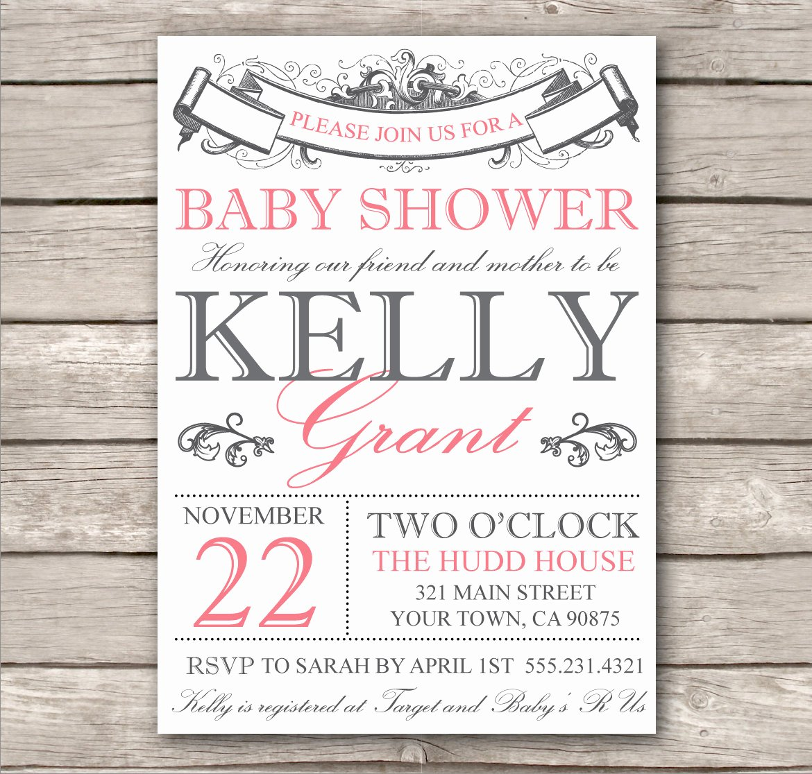 Baby Shower Invitation Template Free Inspirational Bridal Shower Invitation or Baby Shower Invitation by
