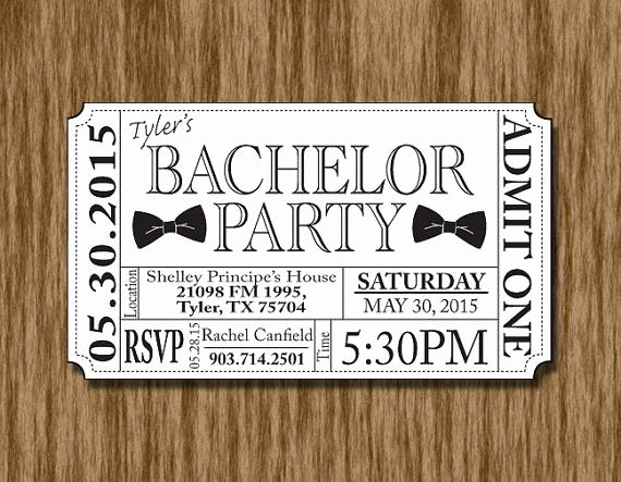 Bachelor Party Invites Template Awesome Beer Bottle Bachelor Party Ticket Invitation Template In