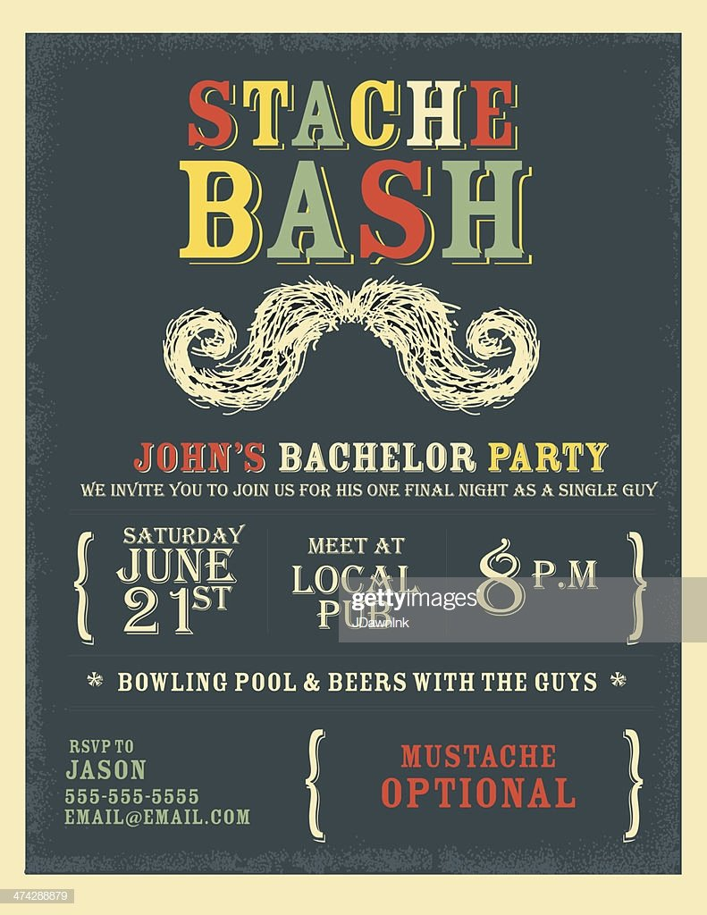 Bachelor Party Invites Template Lovely Whimsical and Colorful Bachelor Party Invitation Design