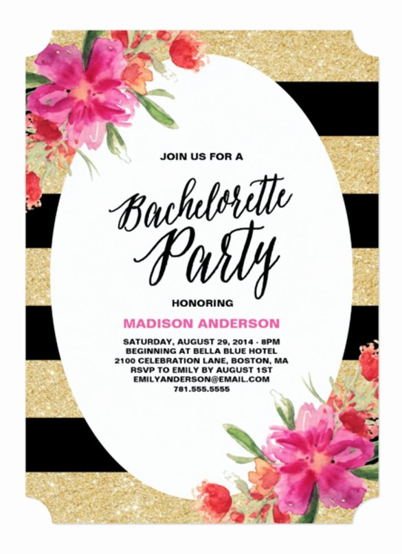 Bachelor Party Invites Template Luxury 32 Bachelorette Invitation Templates Psd Ai Word