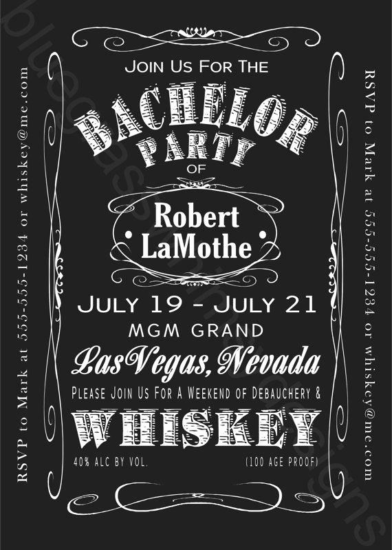 Bachelor Party Invites Template Luxury Jack Daniels Bachelor Party Weekend 5x7 by Bluegrasswhimsy