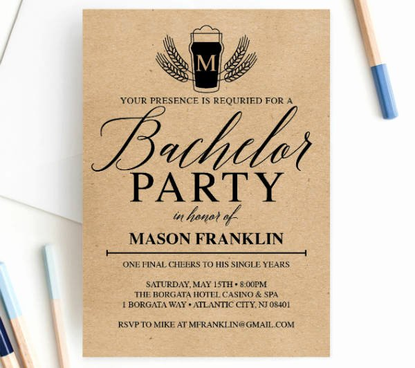 Bachelor Party Invites Template Unique 12 Bachelor Party Invitation Designs & Templates Psd