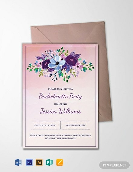 Bachelorette Party Invitation Template Free Awesome Free Printable Bachelorette Party Invitation Template