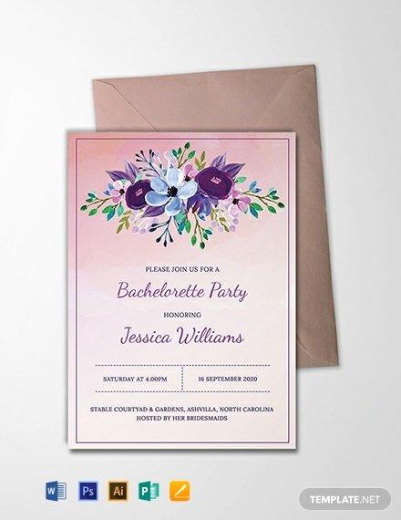 Bachelorette Party Invitation Template Free Awesome Free Printable Bachelorette Party Invitation Template