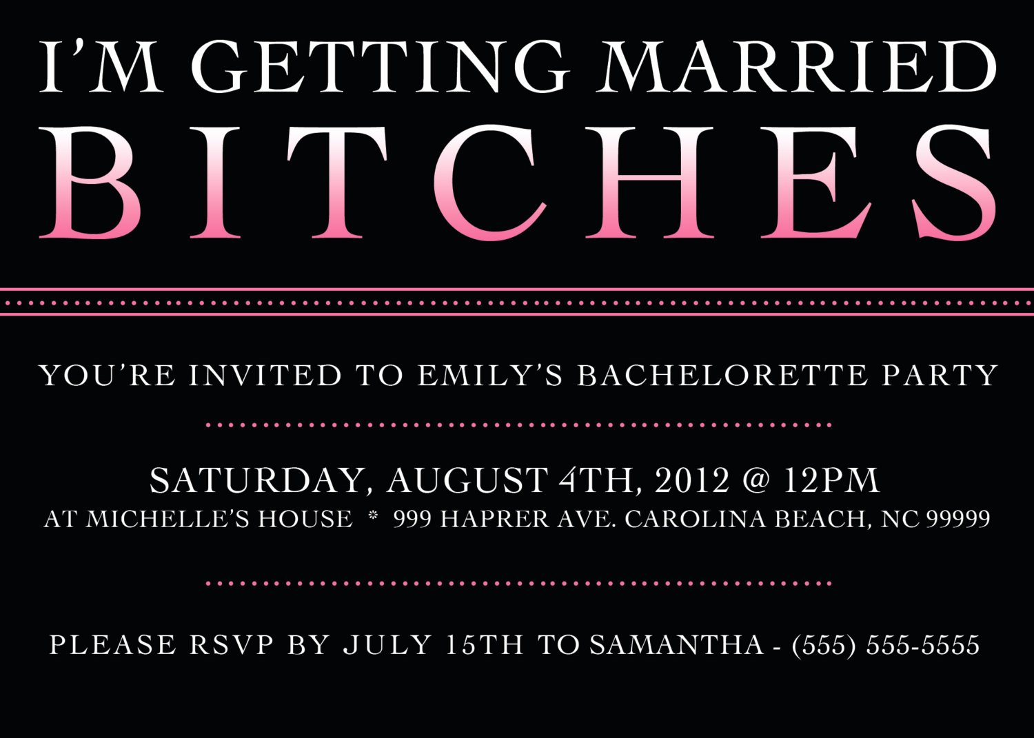 Bachelorette Party Invitation Template Free Beautiful Printable Bachelorette Party Invitation 5 X 7 by