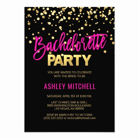 Bachelorette Party Invitation Template Free Elegant Hot Pink Bachelorette Party Invitations Templates