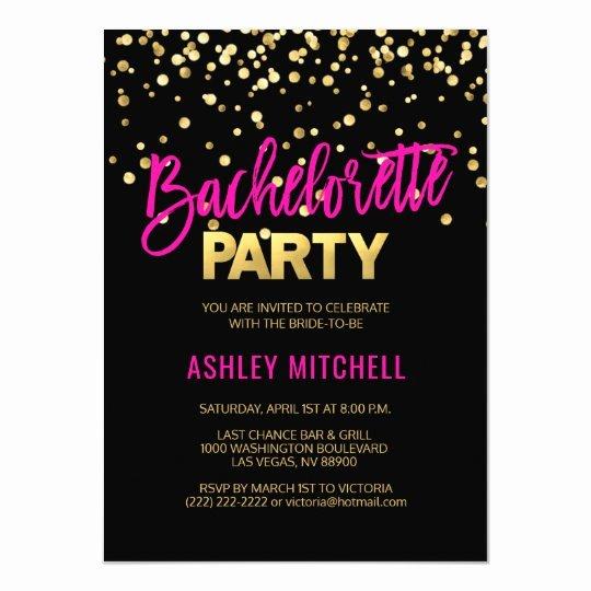 Bachelorette Party Invitation Template Free Elegant Hot Pink Bachelorette Party Invitations Templates