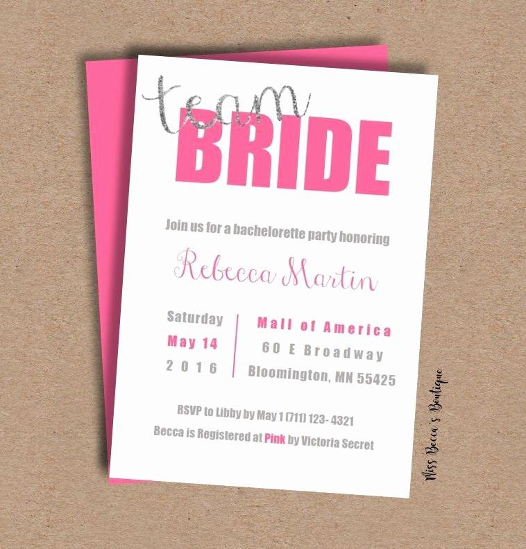 Bachelorette Party Invitation Template Free Fresh Bachelorette Party Invitation Template Team Bride
