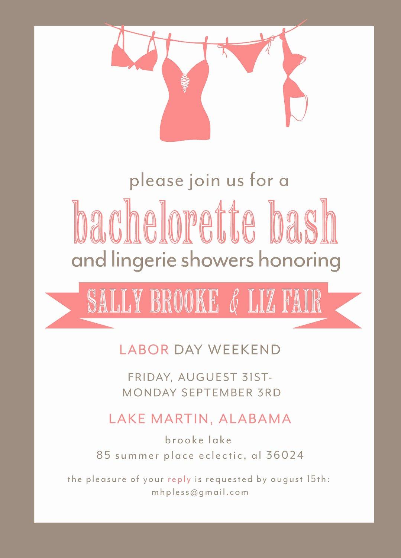Bachelorette Party Invitation Template Free Inspirational Bachelorette Party Invitation Printable File