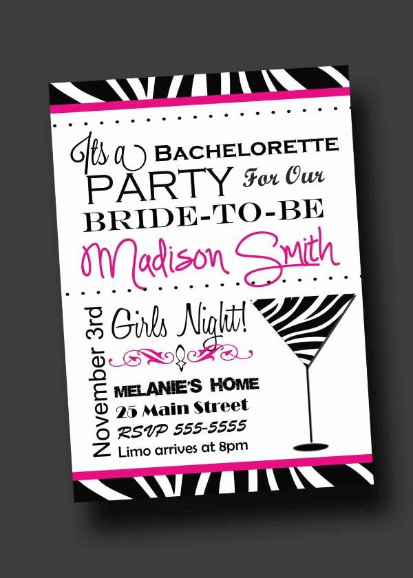 Bachelorette Party Invitation Template Free Lovely 12 Bachelorette Party Invitations Psd Ai Vector Eps