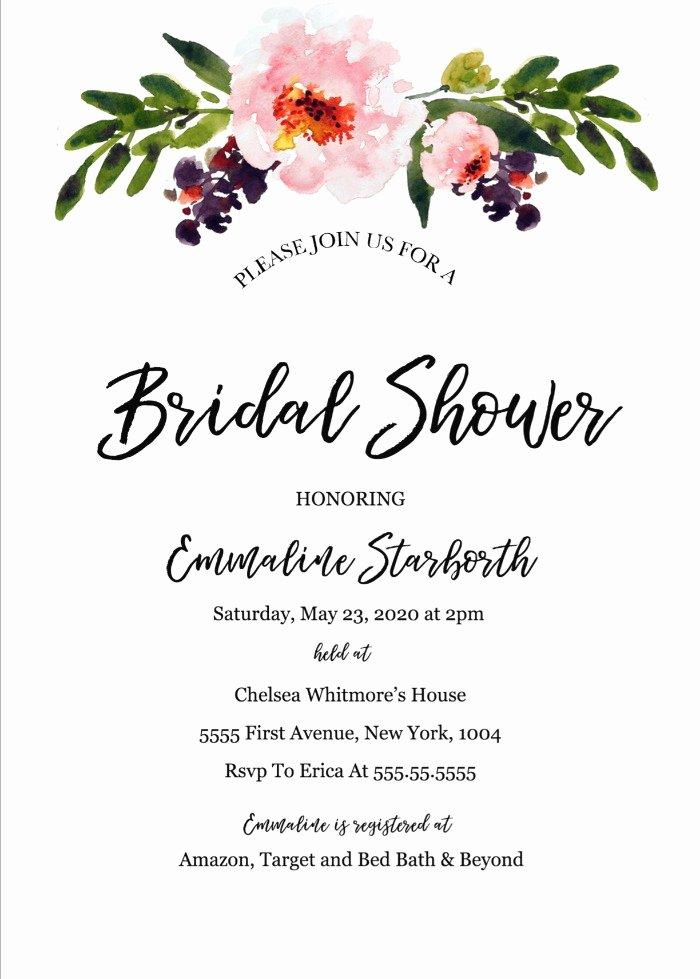 Bachelorette Party Invitation Template Free Lovely Bridal Shower & Bachelorette Invites