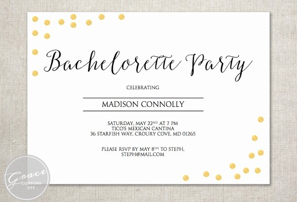 Bachelorette Party Invitation Template Free Luxury 32 Bachelorette Invitation Templates Psd Ai Word