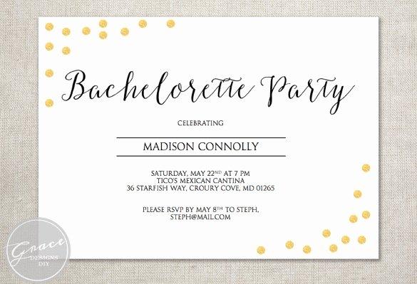 Bachelorette Party Invitation Template Free Luxury 32 Bachelorette Invitation Templates Psd Ai Word