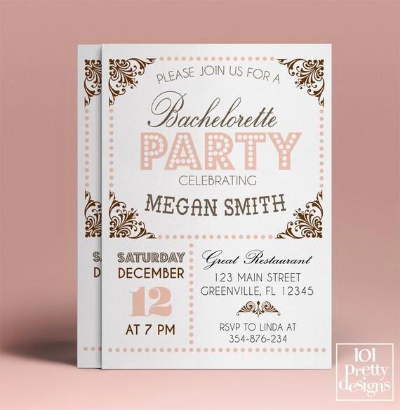 Bachelorette Party Invitation Template Free Luxury Bachelorette Party Invitation Template Printable Bachelorette