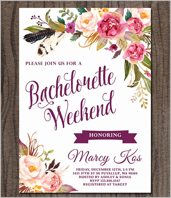 Bachelorette Party Invitation Template Free New Bachelorette Invitation Template 45 Free Psd Vector