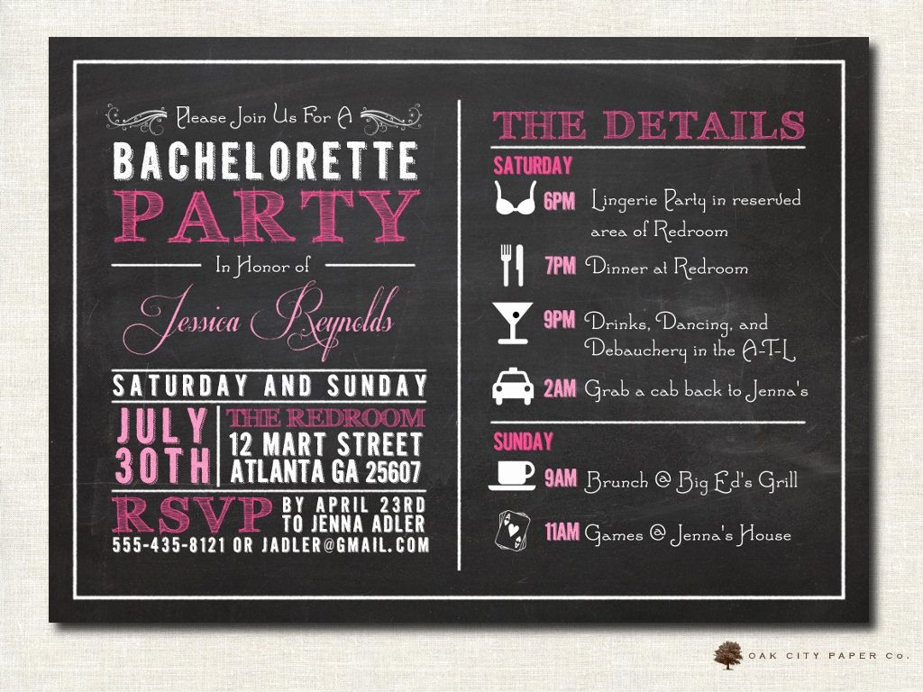 Bachelorette Party Invitation Template Free Unique Bachelorette Invitation Bachelorette Party Invitation