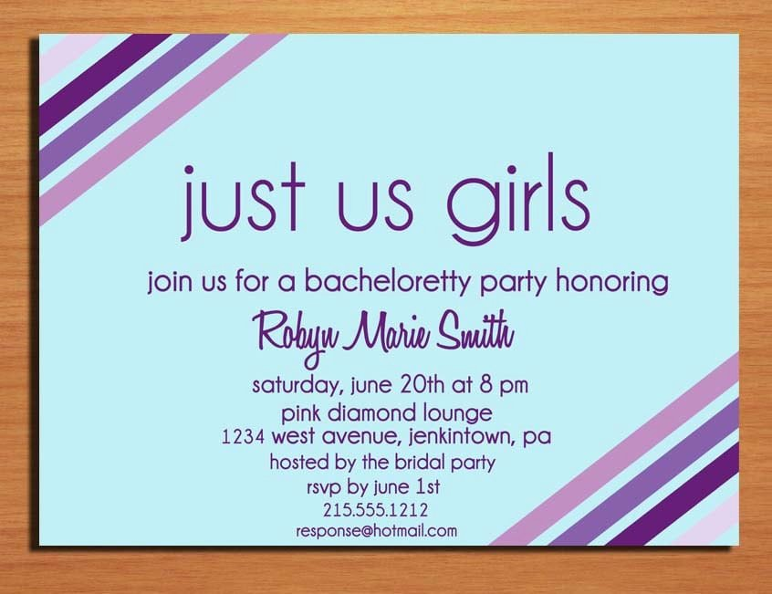 Bachelorette Party Invitations Template Free Awesome Free Printable Bachelorette Invitation