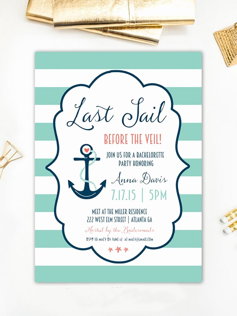 Bachelorette Party Invitations Template Free Beautiful 14 Printable Bachelorette Party Invitation Templates