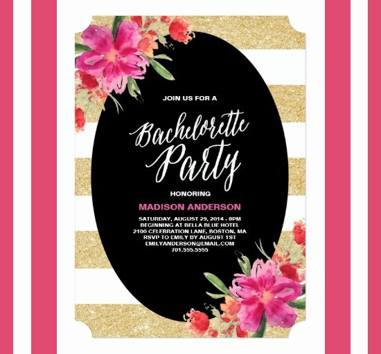 Bachelorette Party Invitations Template Free Elegant 41 Bachelorette Invitation Templates Psd Ai