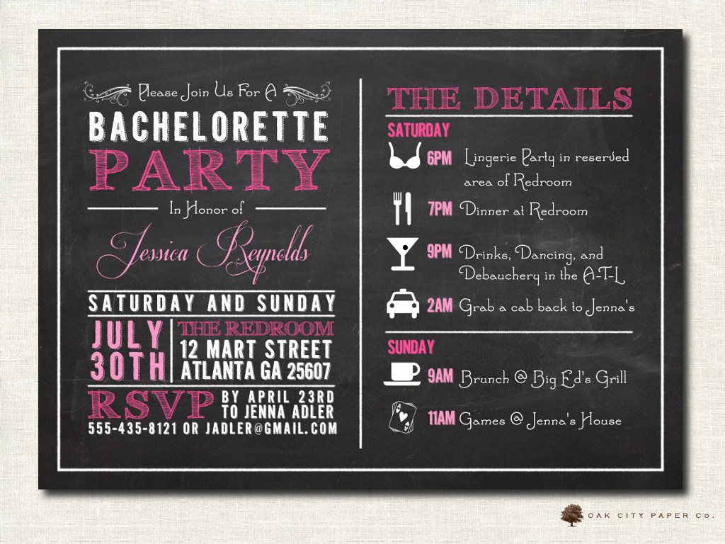 bachelorette invitation bachelorette