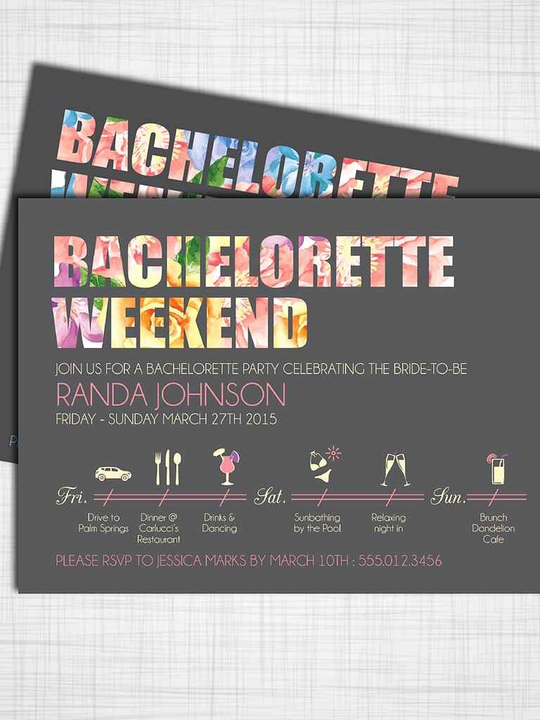 Bachelorette Party Invitations Template Free Lovely 14 Printable Bachelorette Party Invitation Templates