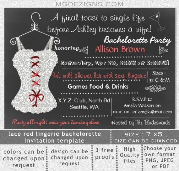 Bachelorette Party Invitations Template Free Lovely Bachelorette Party Printable Invitation