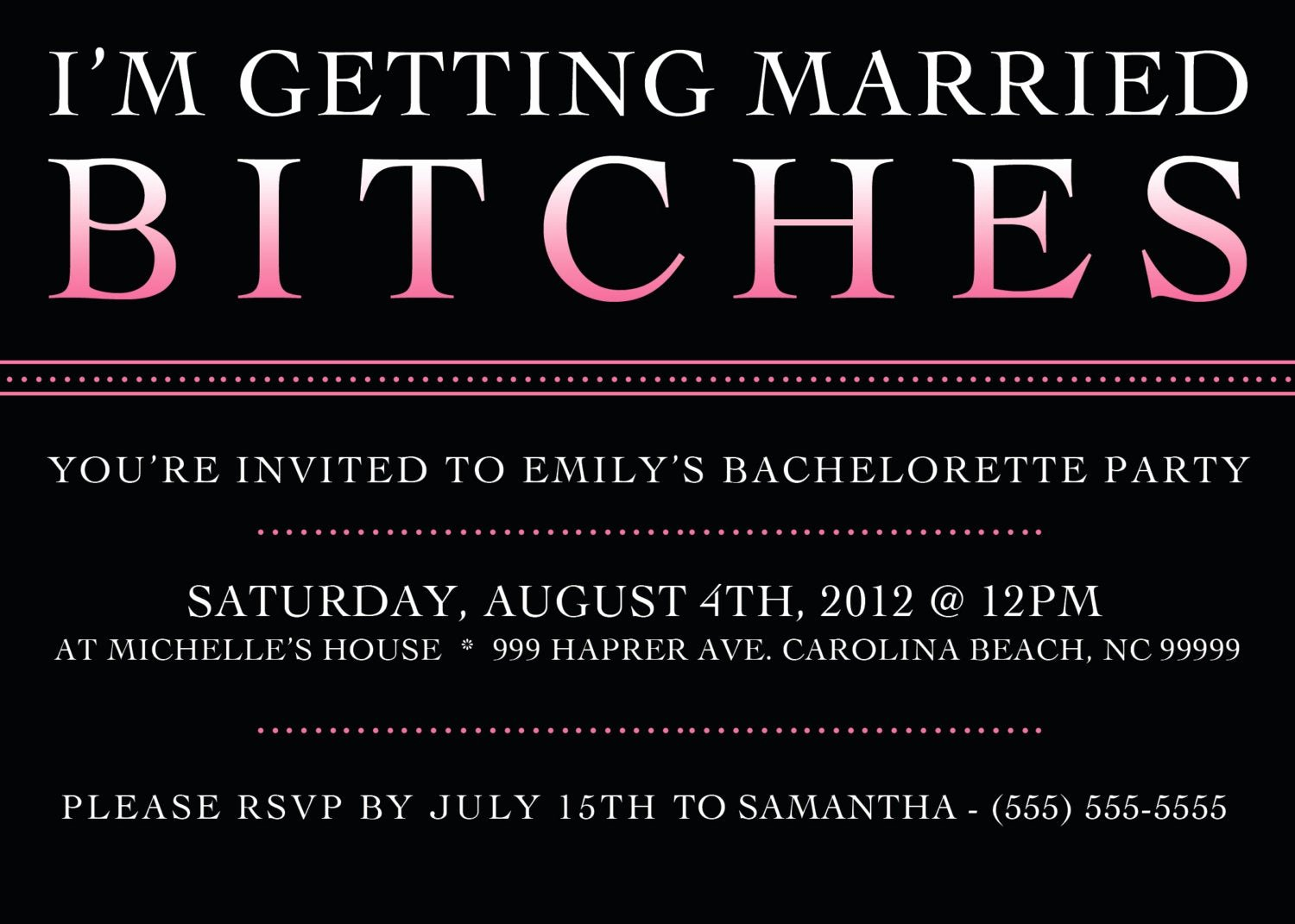 Bachelorette Party Invitations Template Free Lovely Printable Bachelorette Party Invitation 5 X 7 by