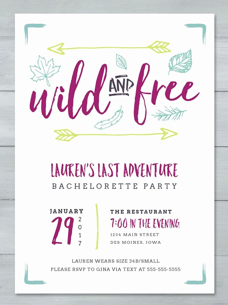 Bachelorette Party Invitations Template Free Luxury 14 Printable Bachelorette Party Invitation Templates