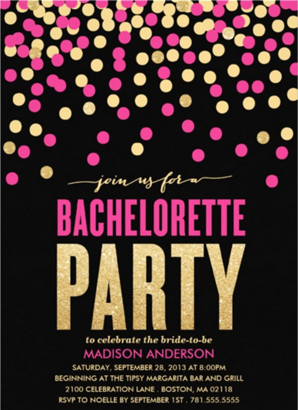 Bachelorette Party Invitations Template Free Luxury 32 Bachelorette Invitation Templates Psd Ai Word