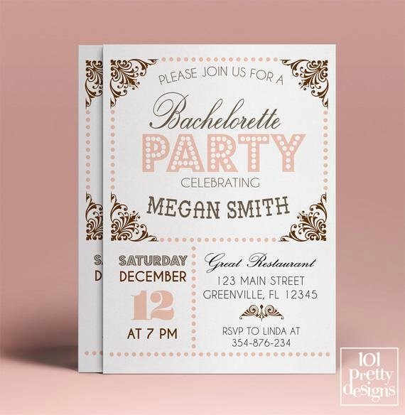 Bachelorette Party Invitations Template Free Luxury Bachelorette Party Invitation Template Printable Bachelorette