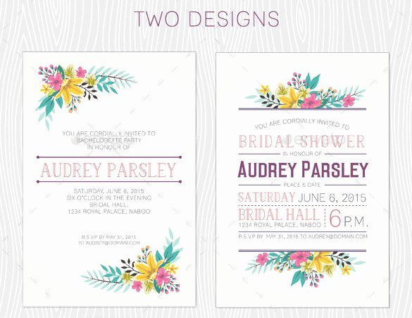 Bachelorette Party Invitations Template Free Unique 41 Bachelorette Invitation Templates Psd Ai