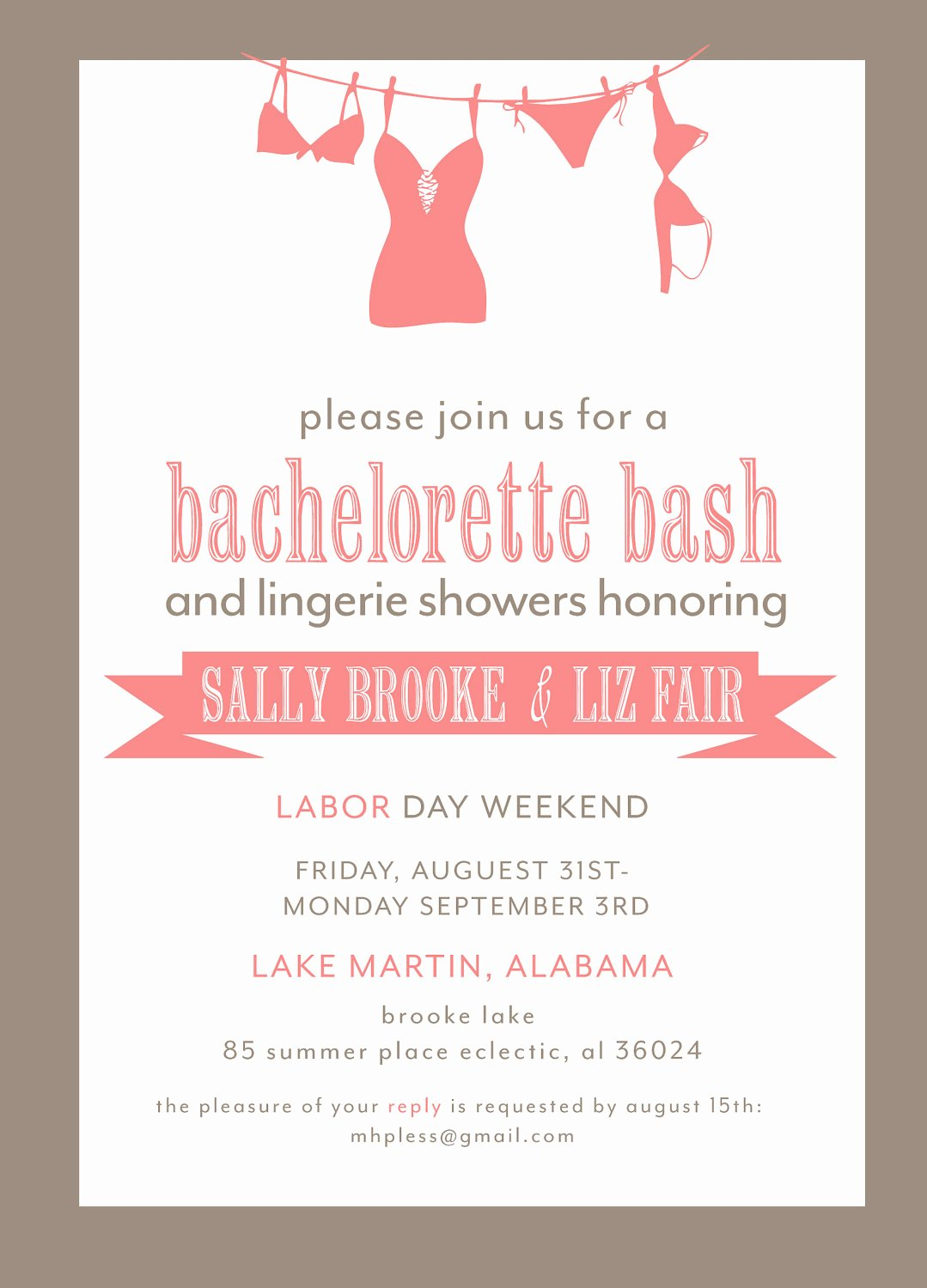Bachelorette Party Invitations Template Free Unique Bachelorette Party Invitation Printable File