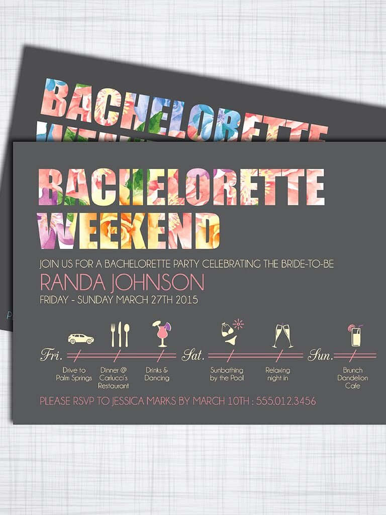 Bachelorette Party Invite Template Free Beautiful 14 Printable Bachelorette Party Invitation Templates