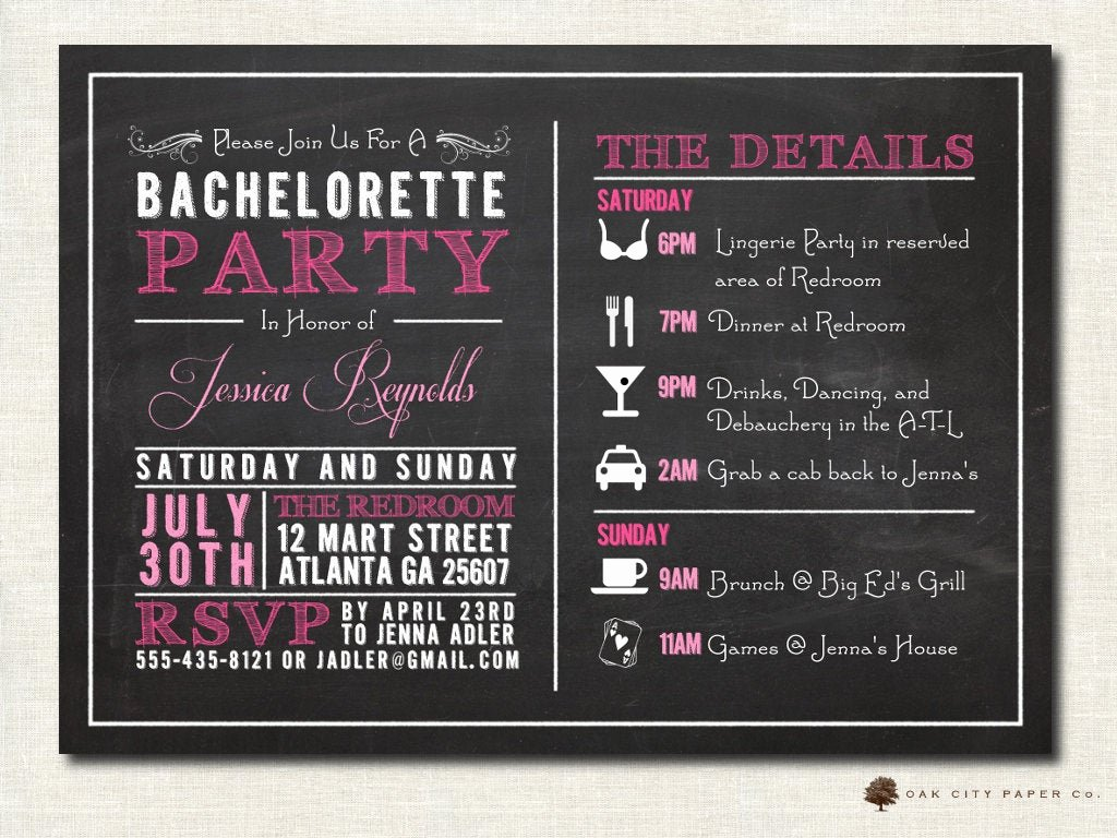 Bachelorette Party Invite Template Free Beautiful Bachelorette Invitation Bachelorette Party Invitation